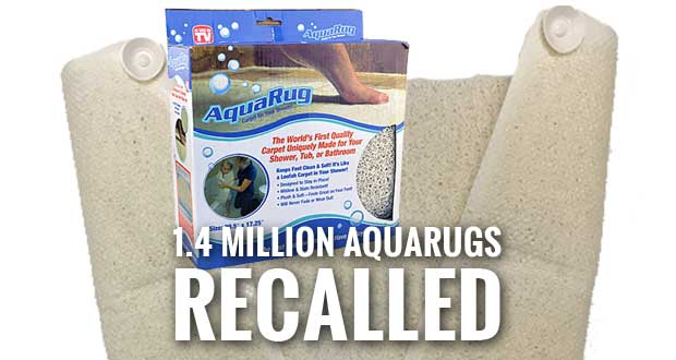 As Seen on TV AquaRug Sold to Prevent Slip and Falls, Recalled Due to Slip and Falls