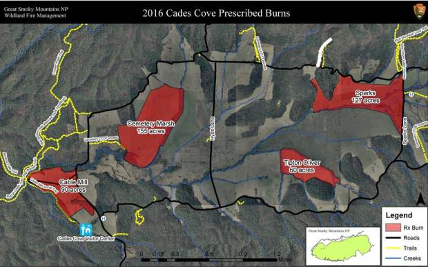 Controlled Burns in Cades Cove