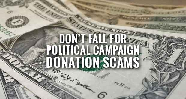 Tennessee Officials Warn of Political Campaign Donation Scams