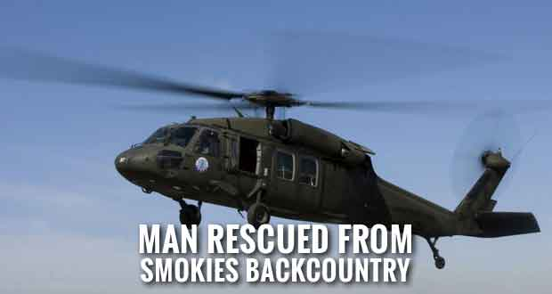 Tennessee Army National Guard Helicopter Rescues Man from Smokies Backcountry