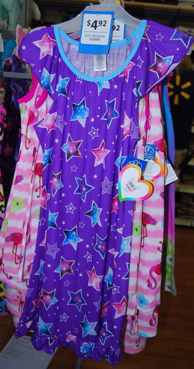Nightgown purchased by Gary Simpson at Walmart