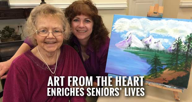 Sevierville Woman Leads Art Program for Seniors with Alzheimer's and Dementia
