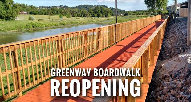 Sevierville's Greenway Boardwalk Repairs Near Completion