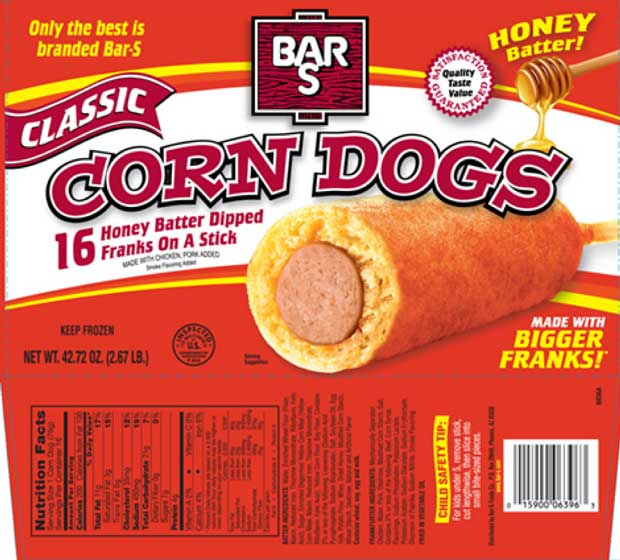 Bar-S Corn Dogs Recalled