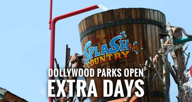 Dollywood, Splash Country Add Operating Days Due to Strong Visitation