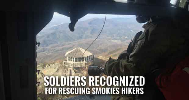 National Guard Aviators Get Award after Lifesaving Rescues in Smoky Mountains