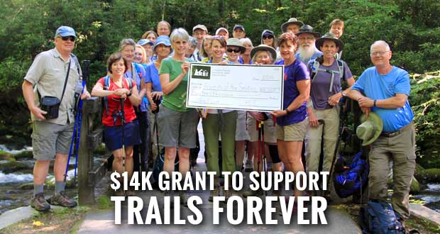 REI Gives Friends of the Smokies $14K Grant for Trail Rehab