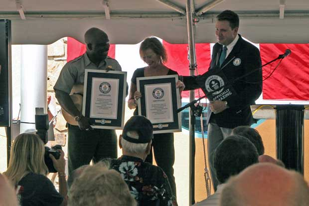 "Guinness World Record official awards certificates for the ""Largest Image of an Arrowhead"""
