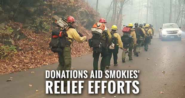 Thousands Donate to Smokies' Fire Relief Effort on #GivingTuesday
