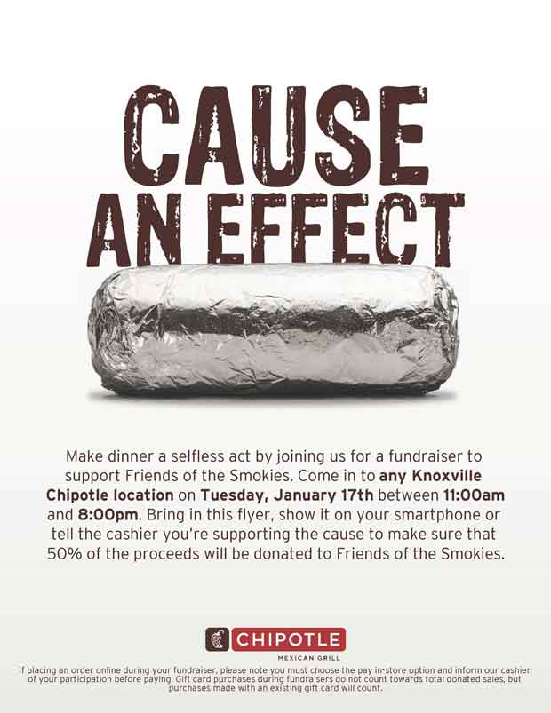 Chipotle Hosts Fundraiser for Friends of the Smokies Wildfire Relief
