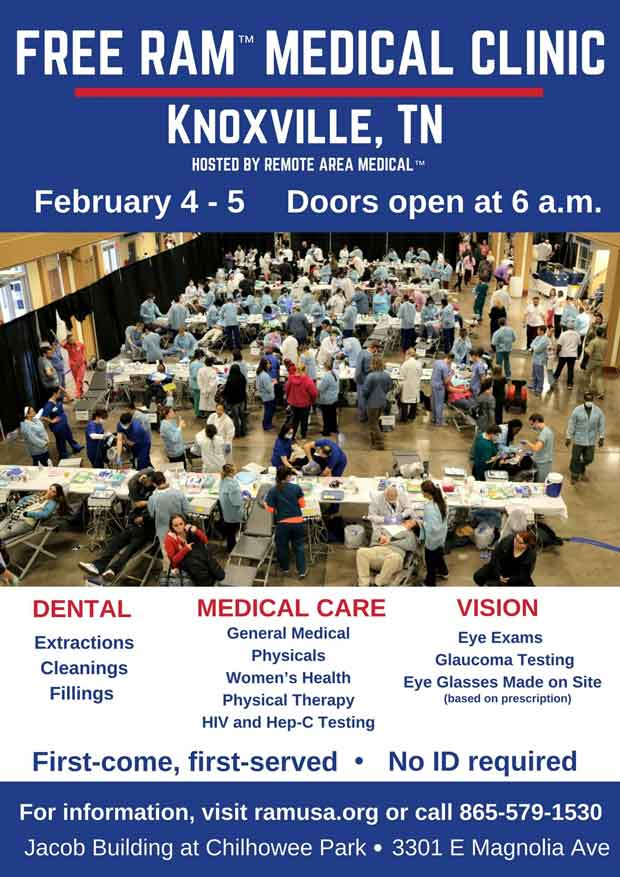 Knoxville RAM Clinic to Provide Free Dental, Vision, Medical Care