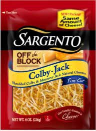 Sargento Off The Block Shredded Fine Cut Colby-Jack Cheese