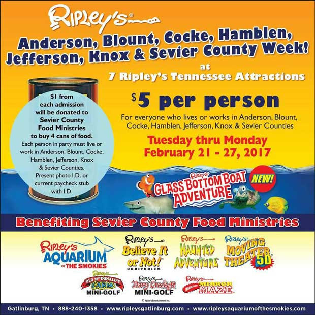 Ripley's Attractions $5 Special Admission for Local Residents and Workers