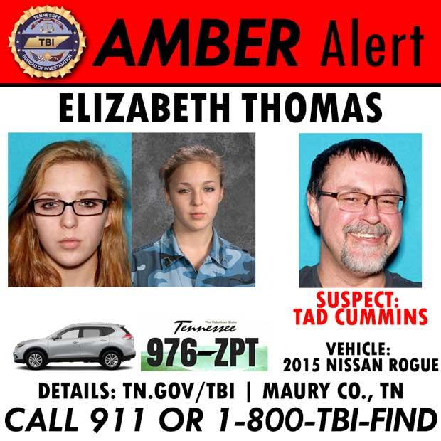 Elizabeth Thomas Amber Alert English