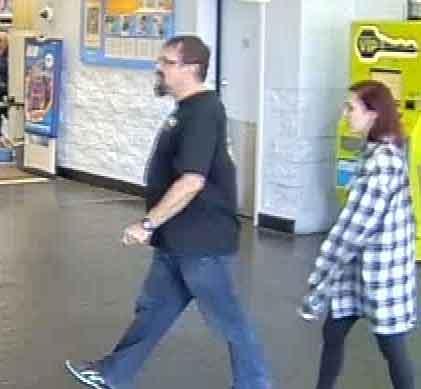 Tad Cummins and Elizabeth Thomas at an Oklahoma Walmart