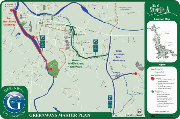 Sevierville Greenway Map