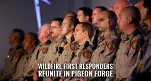 Pigeon Forge Erects Tribute Wall to Honor Wildfire First Responders, Relief Efforts