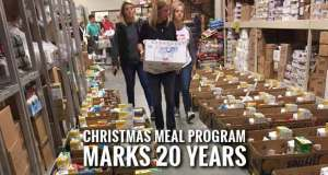 Sunrise Rotary Club Distributes Christmas Meal Boxes