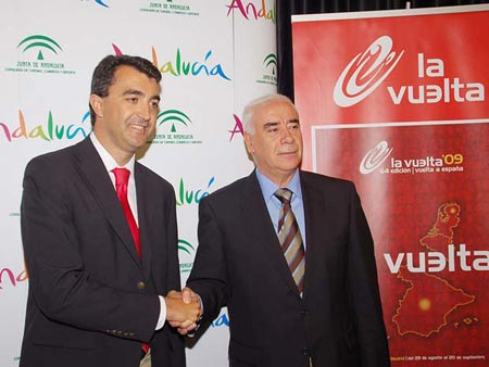 Javier Guillén aseguró que la Vuelta a España 2010 contará con 3 o 4 etapas en Andalucía