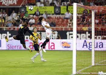 Negredo fue un jugador desacertado de cara al gol/SevillaFC