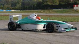 Bejarano, a los mandos de su Fórmula BMW
