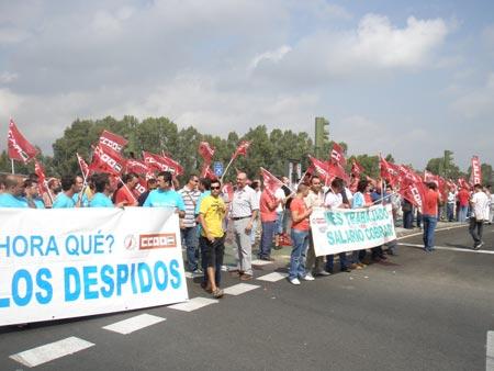 Una de las muchas manifestaciones en las que ha participado CCOO
