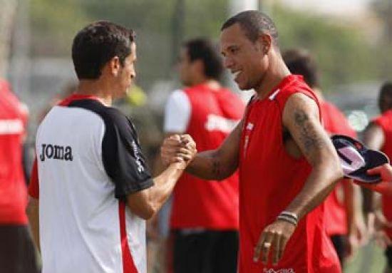 Manolo Jiménez podrá contar con Luis Fabiano la semana que viene/SevillaFC