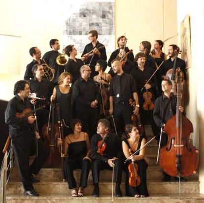 La Orquesta Barroca de Sevilla al completo