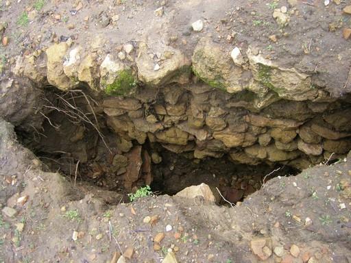 Los restos encontrados son muros de argamasa que se han afectado con las fuertes lluvias/Alwadi-ira.