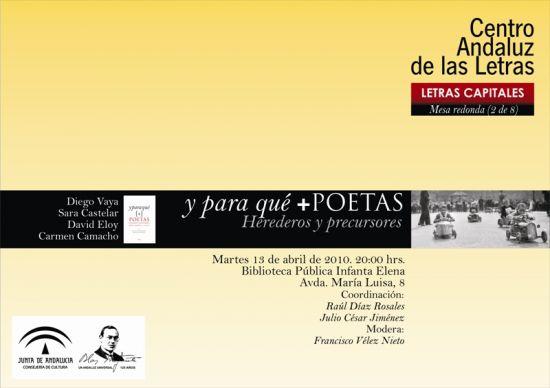 La mesa redonda forma parte de la iniciativa 'Letras Capitales'/SA