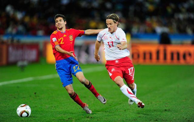 Jesús Navas intentó remontar el partido frente a Suiza, algo que finalmente no pudo ser