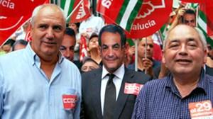 Francisco Carbonero y Manuel Pastrana, líderes sindicales de CCOO y UGT en Andalucía