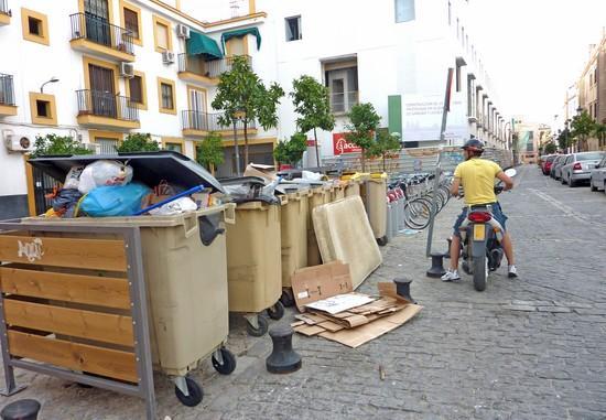 El sistema podría evitar la imagen de contenedores llenos de basura