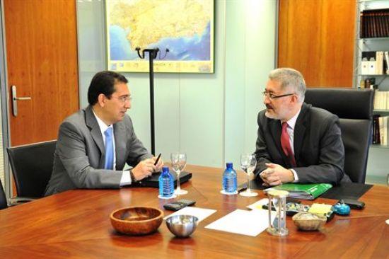 Antonio Pulido y Antonio Ávila hoy durante la presentación.