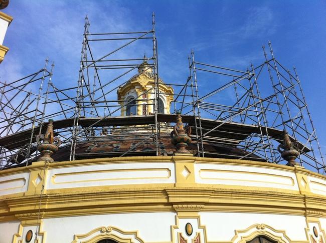 Las obras de la cúpula se prolongarán durante los próximos meses