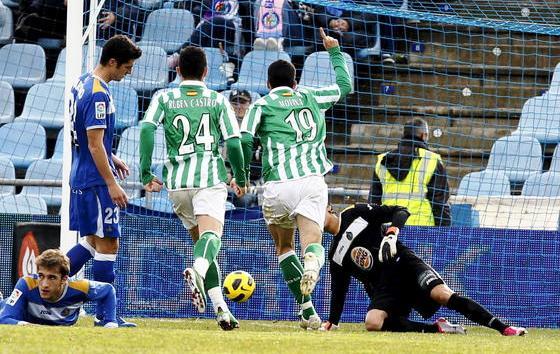 Momento en el que Jorge Molina marcaba el 0-1/EFE