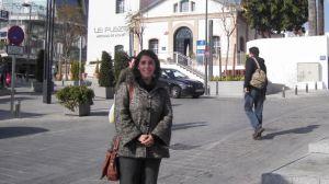 Lola Aquino en la nueva plaza de abastos de Alcalá/PA