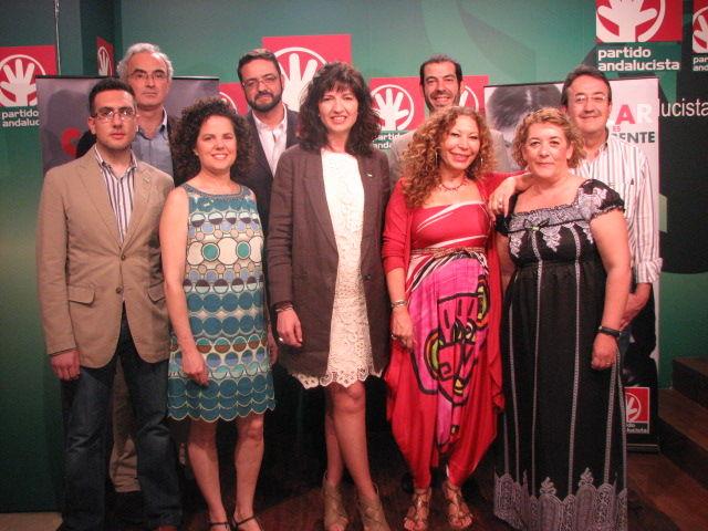 Los primeros candidatos de la lista del PA en Sevilla se han presentado esta mañana por parte de la candidata a la Alcaldía, Pilar González