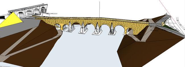 Recreación de cómo quedará el Puente Romano una vez culminada la restauración
