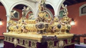 El paso del Señor de Sevilla ha permanecido expuesto durante un mes/Jesús Romero