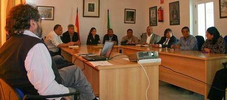 Miembros del Consorcio de Aguas de la Sierra Sur han ayudado a los alcaldes de los municipios hondureños./A.Copete