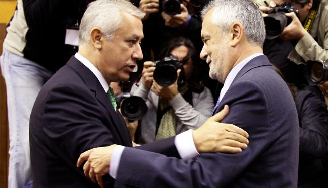 Griñán, que ha recibido las felicitaciones de Arenas, mantendrá una reunión con Valderas este viernes/SA