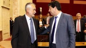 Griñán ha protagonizado hoy el discurso de investidura en el Parlamento/SA