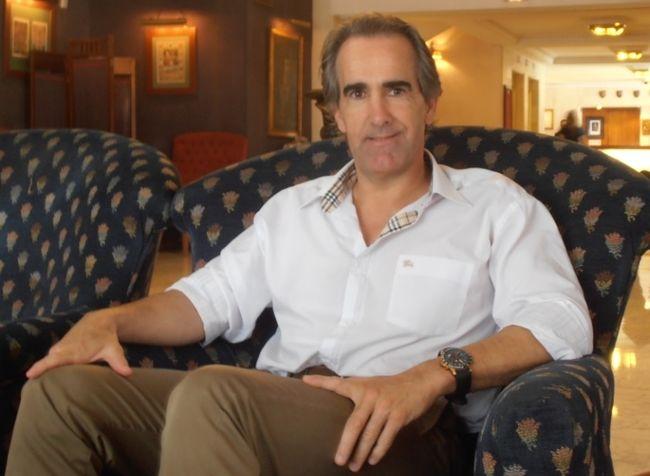 Javier Iriondo en la presentación de su libro 'Donde tus sueños te lleven' /Paula Romero