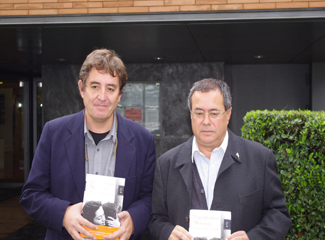 García Montero junto a Francisco Díaz Morillo, esta mañana/Ángel Espínola