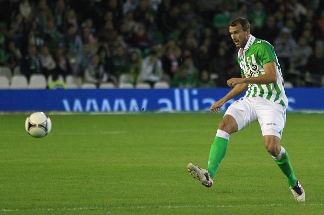 Amaya volverá a vestir la camiseta verdiblanca ante el Getafe / REAL BETIS