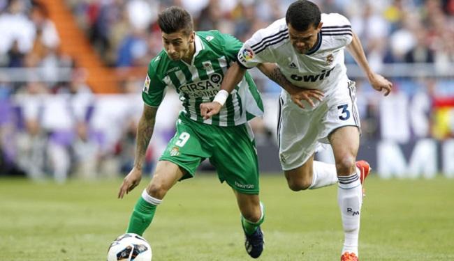 Álvaro Vadillo regresó este sábado al lugar donde se produjo su grave lesión / REAL BETIS
