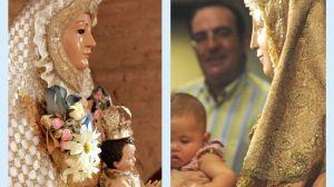 La Virgen de Escardiel (izda) es una talla anónima de las denominadas fernandinas como la Virgen de los Reyes (dcha) de Sevilla / Sevilla Actualidad