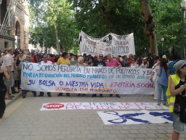 El movimiento 15-M Sevilla volverá a llenar el Metropol-Parasol de actividades./Sevilla Actualidad