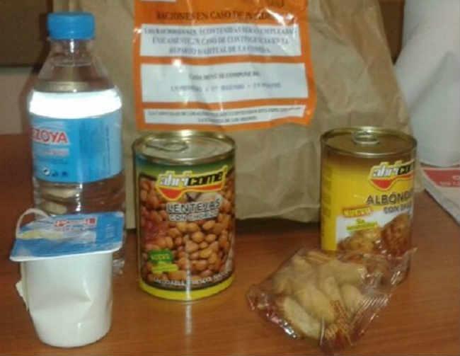 Kit de emergencia comidas